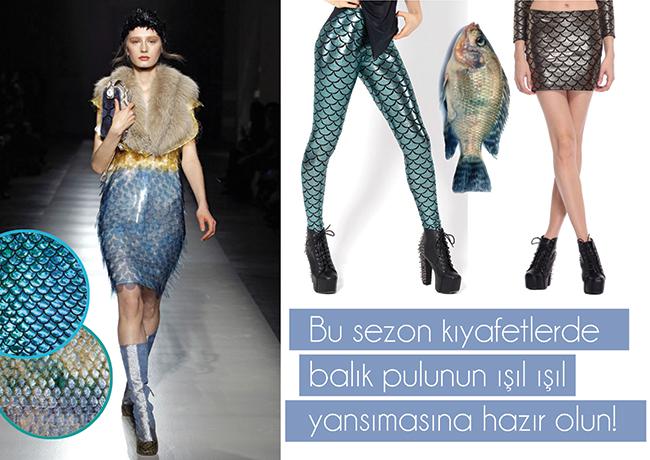 Modada 'Balık Pulu' Esintisi